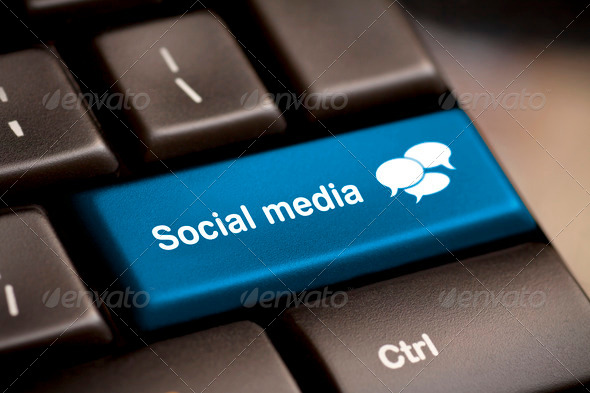 Social Media keyboard - Stock Photo - Images