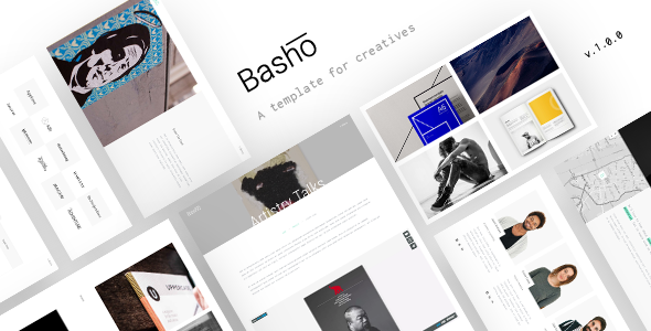 basho a creative html5 template for freelancers agencies by thememountain. Black Bedroom Furniture Sets. Home Design Ideas