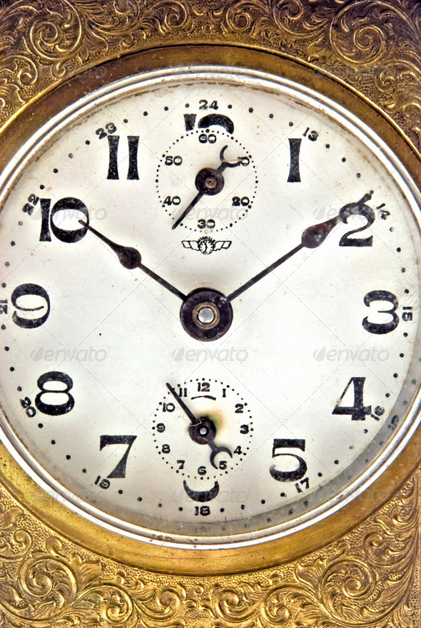 Golden clock - Stock Photo - Images