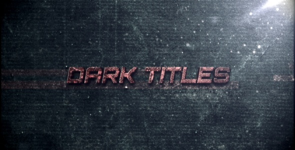 After Effects Project - VideoHive Dark Titles 1739005