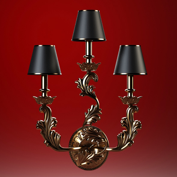 High quality model of classic sconce Chelini - 3DOcean Item for Sale