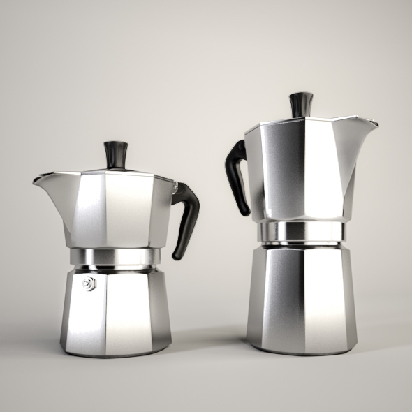 3DOcean Moka Coffee Pot 3D Models -  Food and drinks 204872