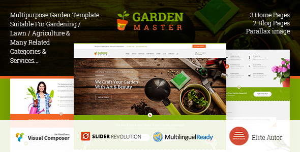 Garden Master WordPress Agriculture Lawn Shop theme by Templines