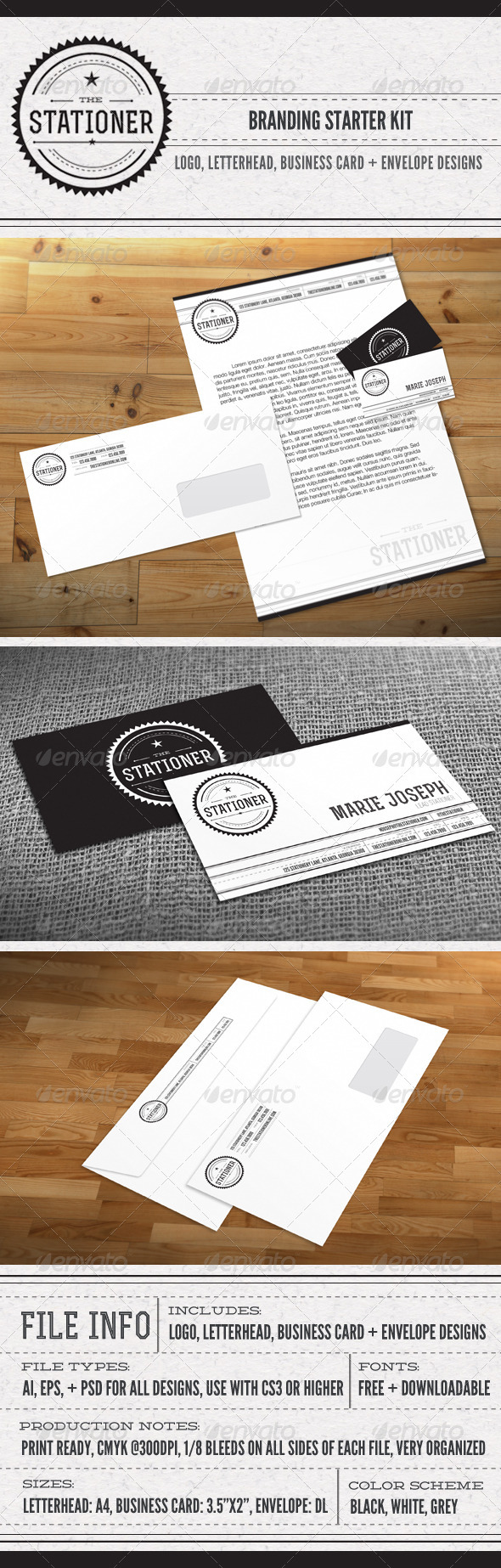 The Stationer Branding Kit - Stationery Print Templates