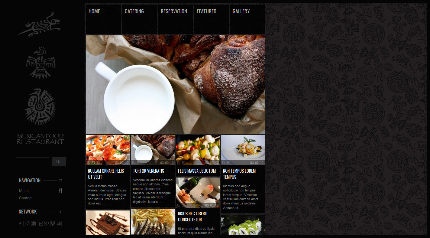 MagTruetitude Restaurant and  WP Food Magazine - Layout options
