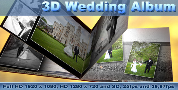 VideoHive 3D Wedding Photo Album 1694493