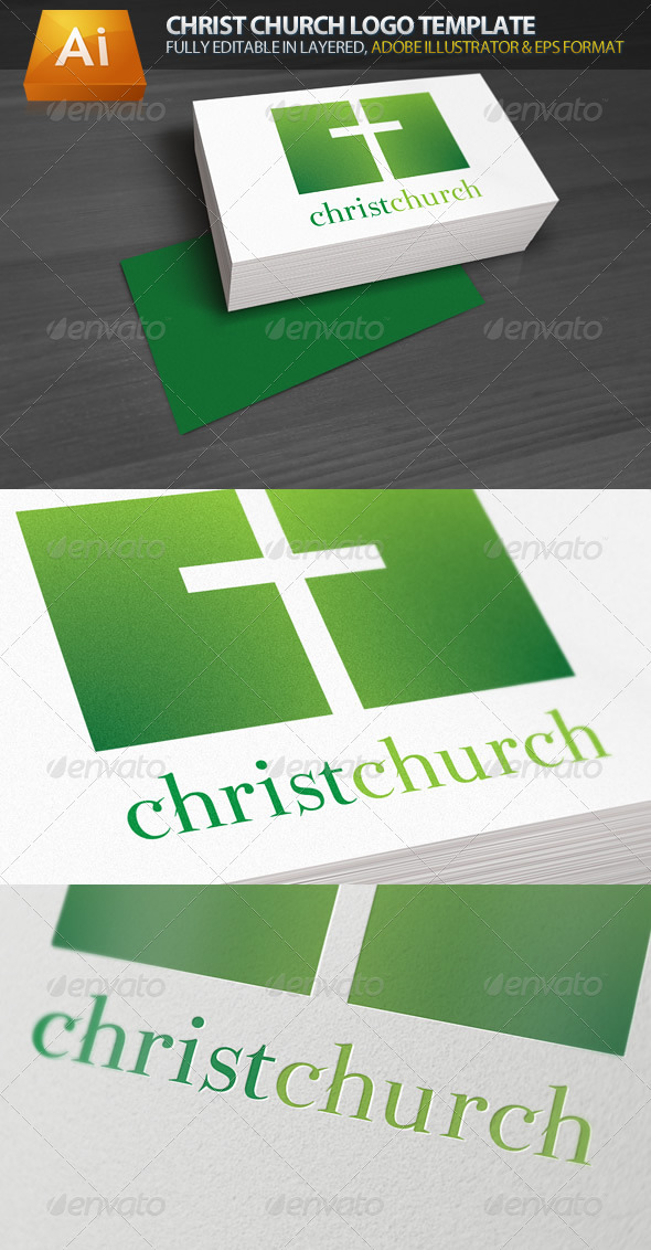 Christ Church Religious Logo Template - Symbols Logo Templates