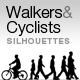 Walkers & Cyclists Silhouettes - ActiveDen Item for Sale