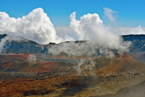 Haleakala Volcano and Crater Maui Hawaii - Stock Photo - Images