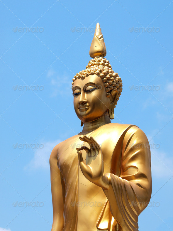 Statue of Buddha in Thailand - Stock Photo - Images