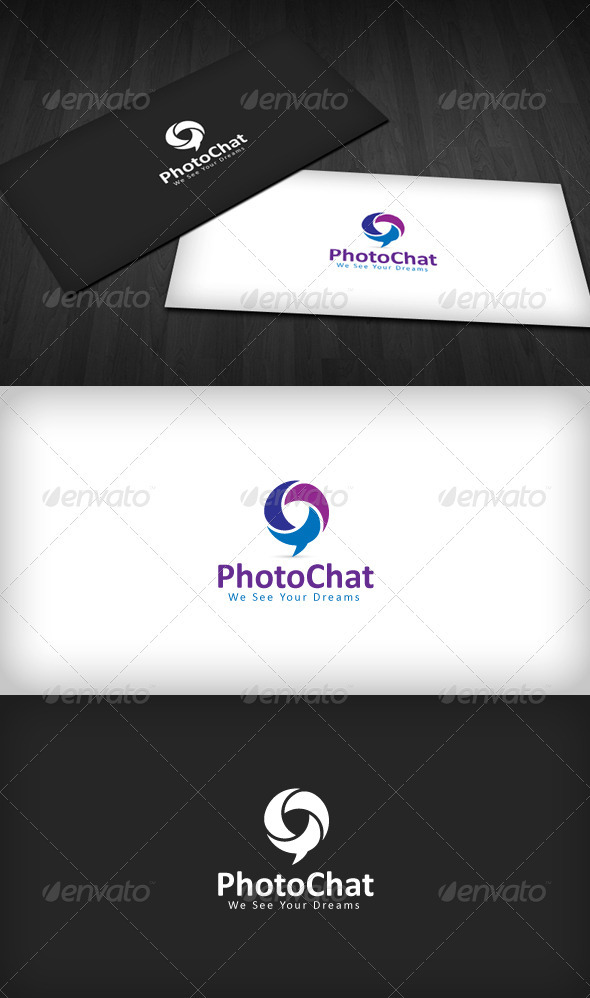 Photo Chat Logo - Vector Abstract