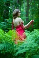 beautiful woman with naked back In summer forest - PhotoDune Item for Sale
