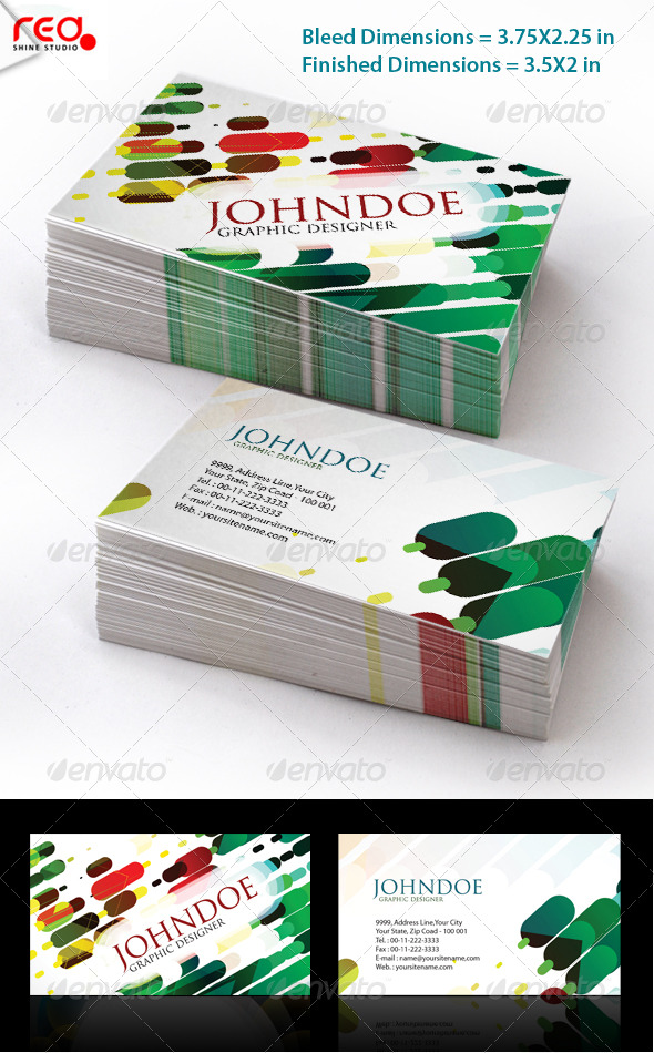 Stylish Business Card Set - Creative Business Cards