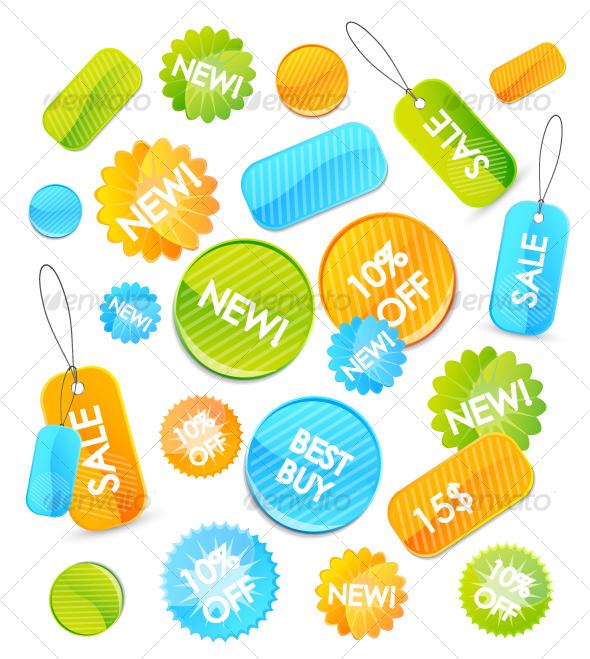 GraphicRiver Colourful price tags 68030
