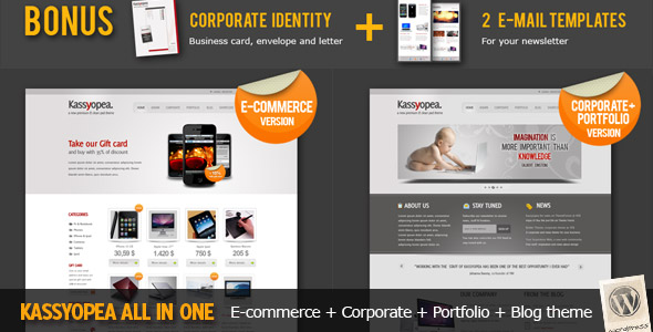 Kassyopea All In One: Ecommerce + Corporate