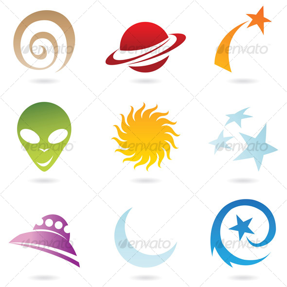 GraphicRiver fun space icons 68124