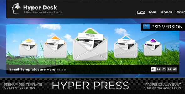 HYPER PRESS - Premium PSD Template