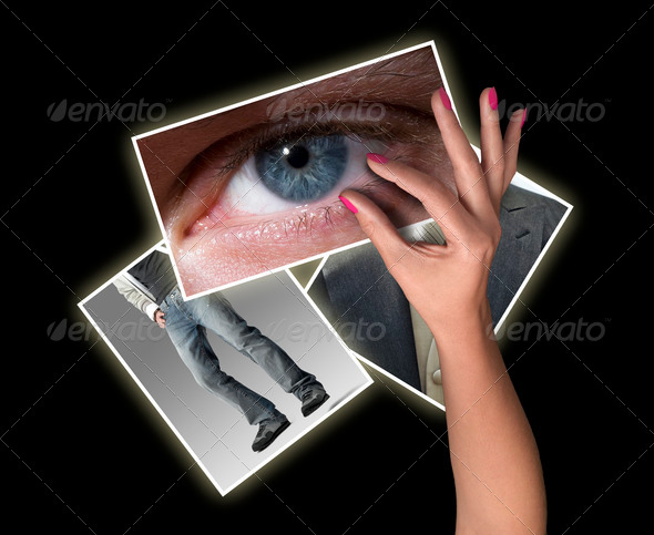 Female hand reaching images streaming - Stock Photo - Images