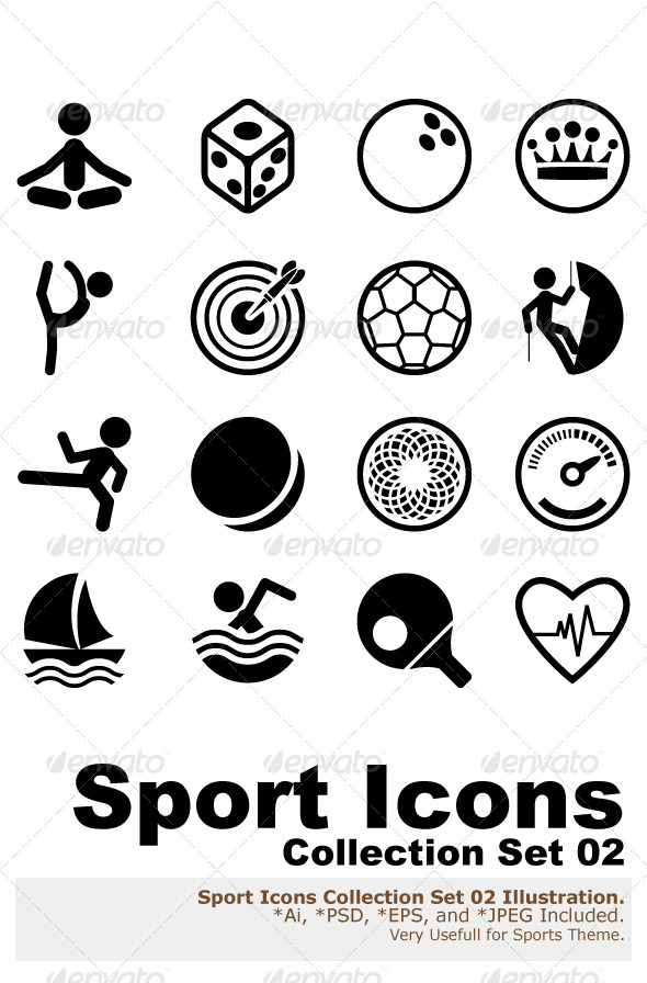 GraphicRiver Sport Icon Set 1754440