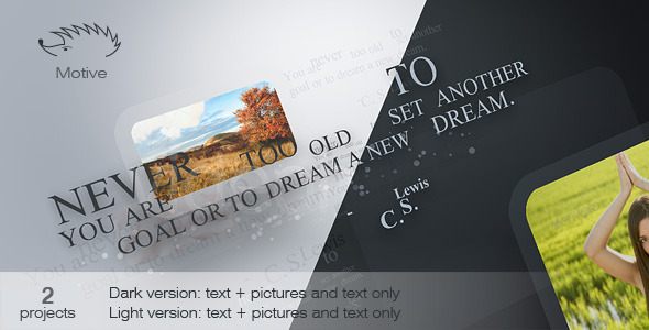 After Effects Project - VideoHive Motive 929106