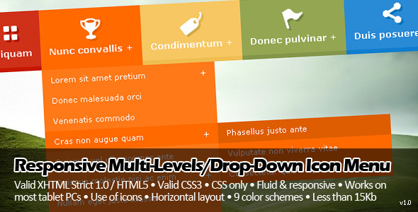 CodeCanyon Responsive Multi-Levels Drop-Down Icon Menu 1717306