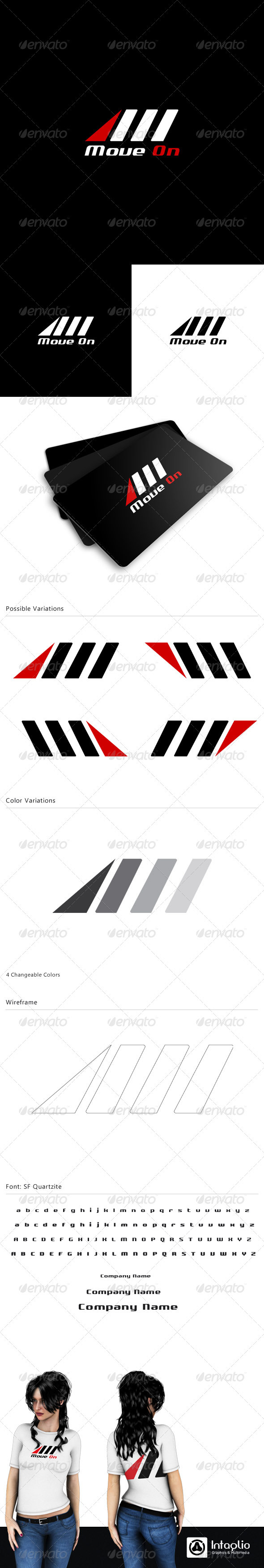 "Letter ""M"" Logo Template - Move On - Letters Logo Templates"