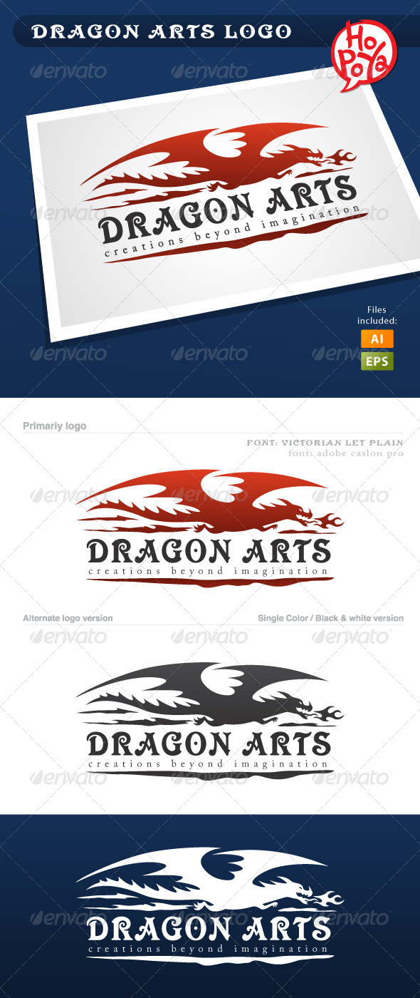 Dragon Arts Logo - Animals Logo Templates