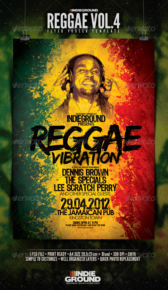 Reggae Flyer/Poster Vol. 4 - Clubs & Parties Events