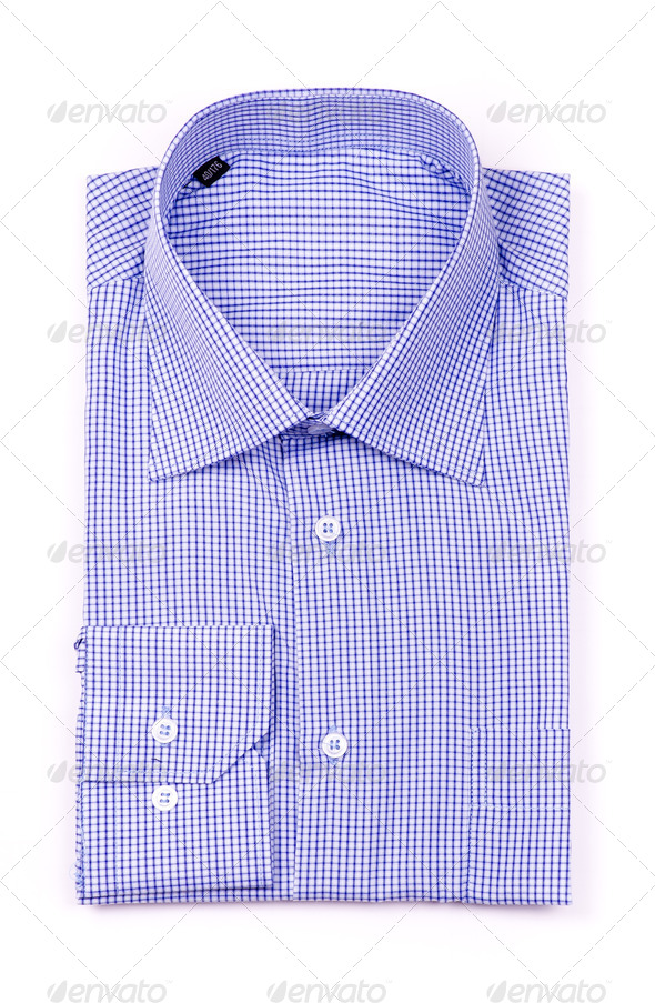 Blue shirt top view - Stock Photo - Images