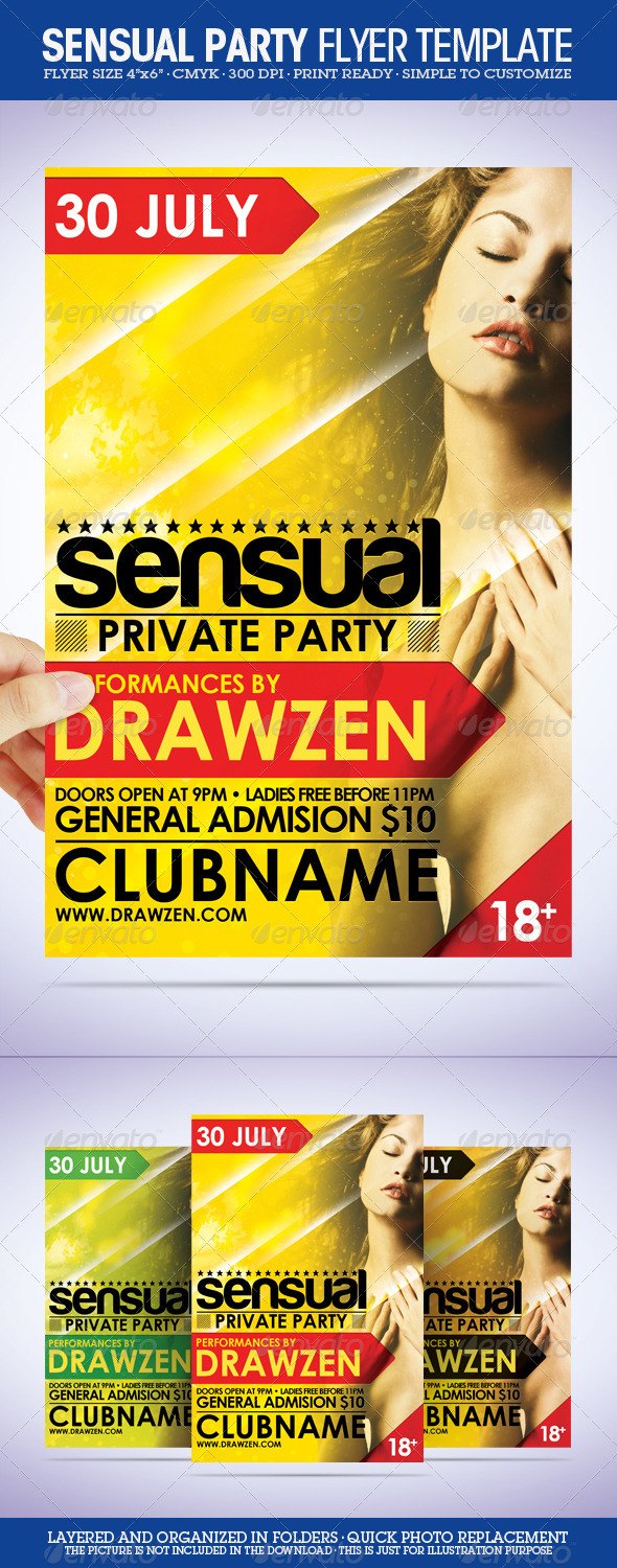 Sensual Flyer Template - Clubs & Parties Events