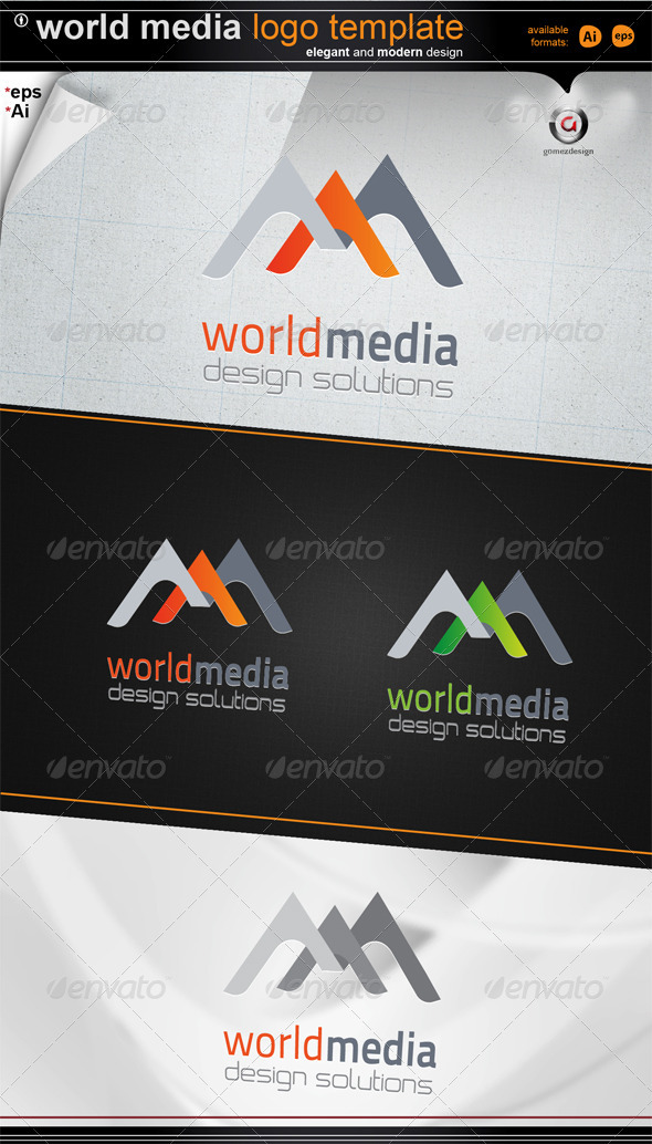 world media design - Letters Logo Templates