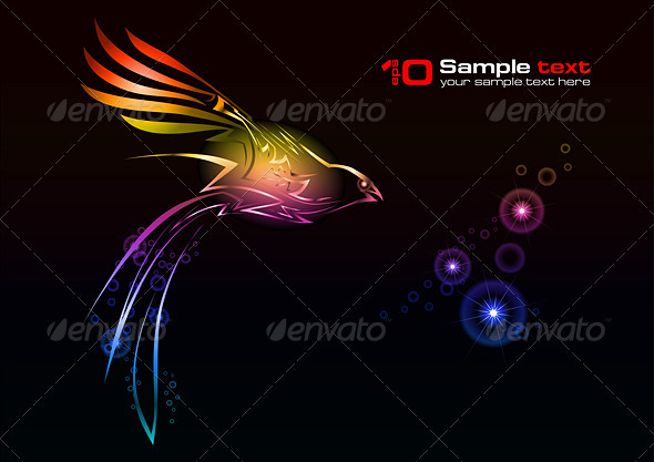 Vector abstract design. Bird. - Tattoos Vectors