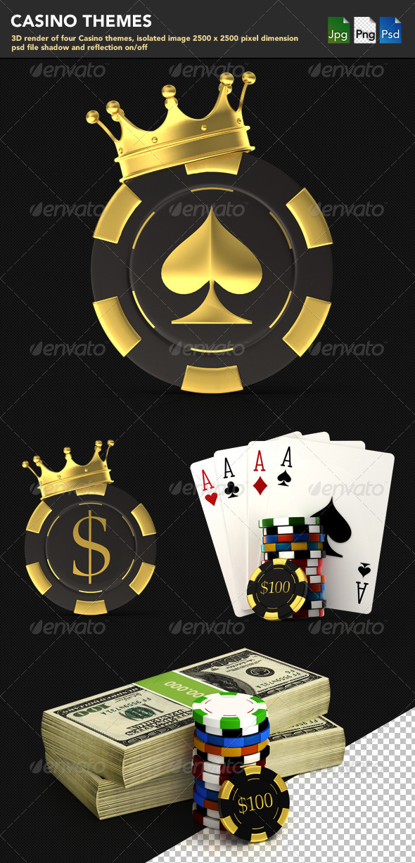 Casino Themes - Objects 3D Renders
