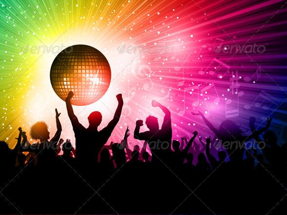 GraphicRiver Disco Crowd Background 1765765