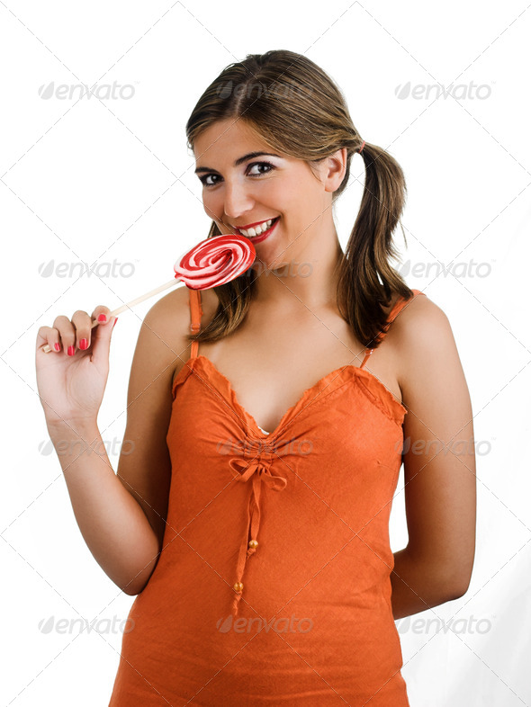 Lollypop Girl - Stock Photo - Images