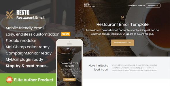resto restaurant email template builder access by saputrad themeforest. Black Bedroom Furniture Sets. Home Design Ideas