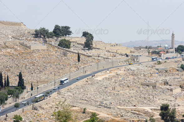 Graves on the Mount of Olives - Stock Photo - Images