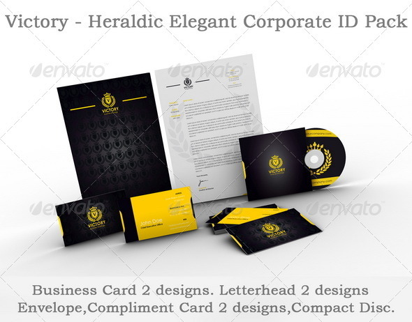 Victory - Heraldic Elegant Corporate ID Pack - Stationery Print Templates