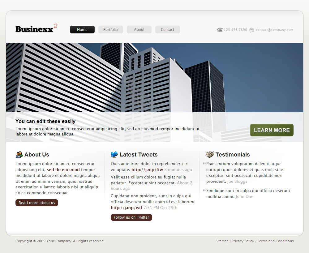 Businexx2 Premium Theme - Homepage