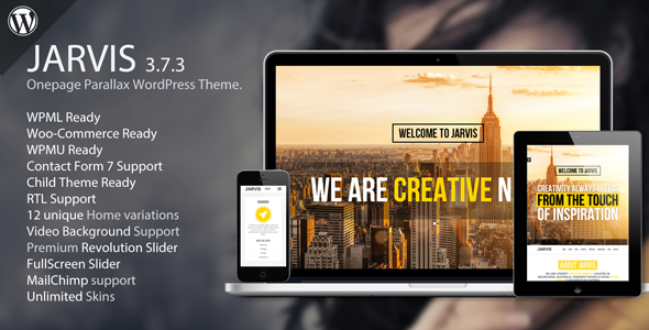Jarvis - Onepage Parallax WordPress Theme by RockNRollaDesigns ...