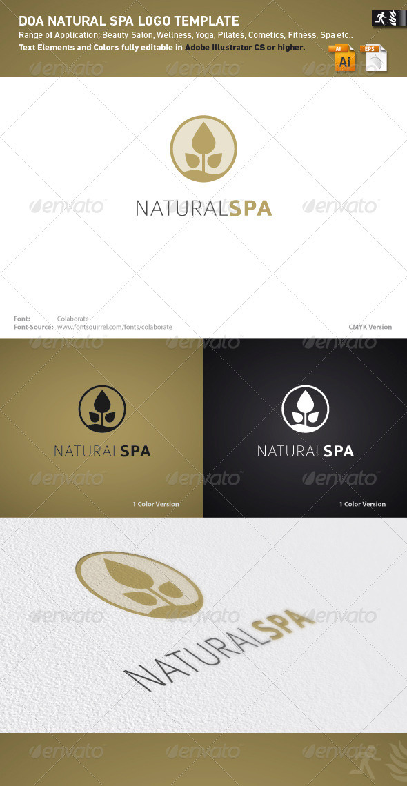 DOA Natural Spa Logo Template - Nature Logo Templates