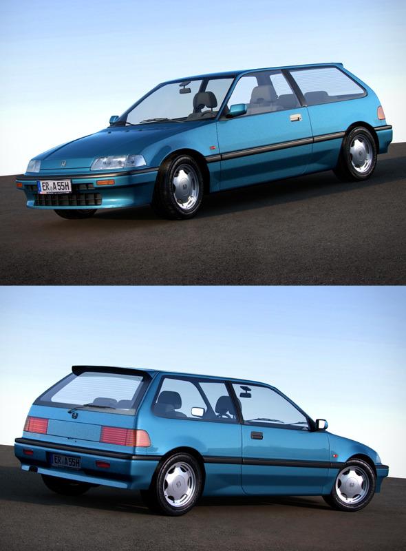 3DOcean Honda Civic IV hatchback 1987-1991 119818
