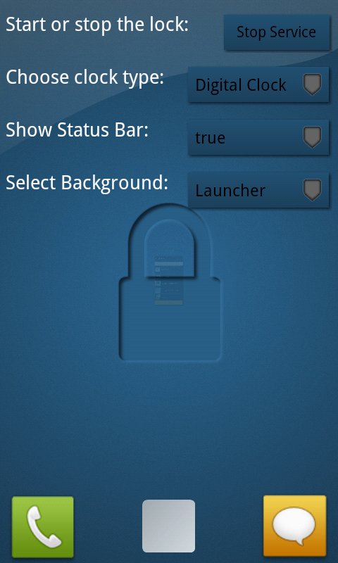 Customizable Locker Screen