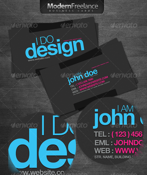 Modern Freelance Business Cards - Creative Business Cards