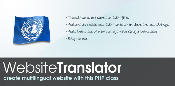 Website translation Class - Create multilingual website with this PHP class