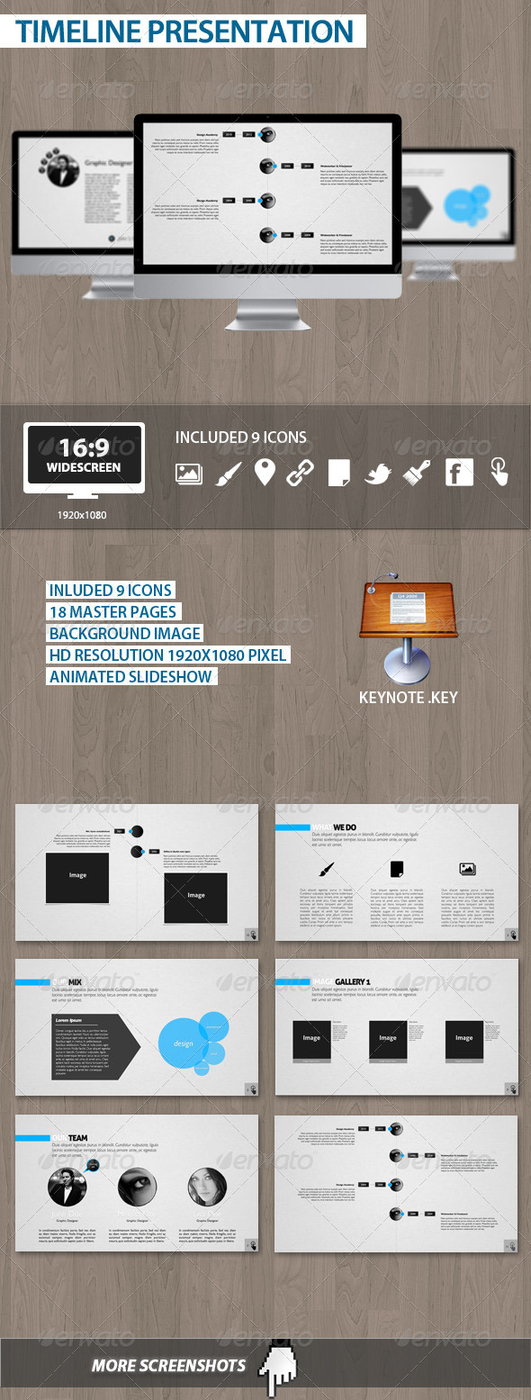 Keynote .key File. 18 Master Pages. Graphic River's. Animated