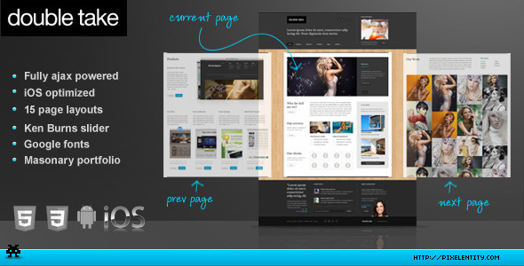 Doubletake Ajax HTML5 Portfolio Business Template - Corporate Site Templates