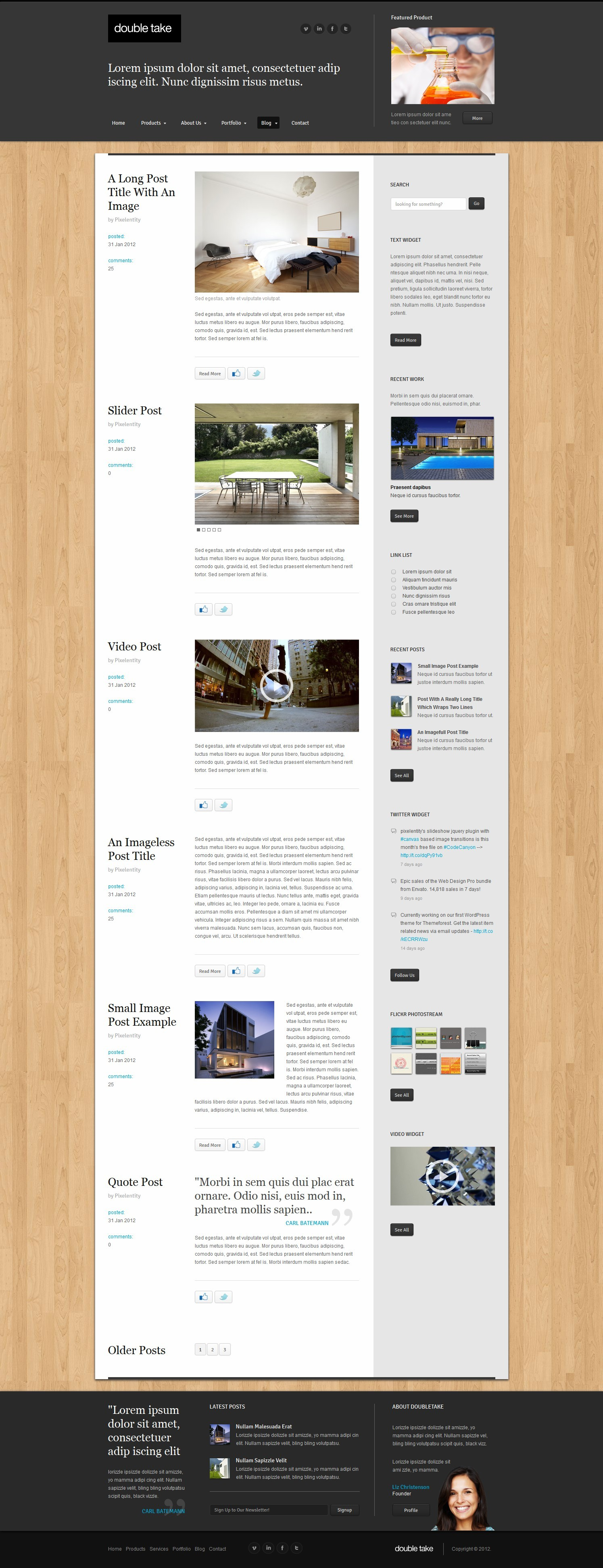 Doubletake Ajax HTML5 Portfolio Business Template