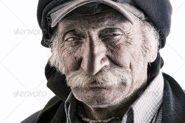 old traditional lebanese man with mustache - Stock Photo - Images