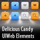 Delicious Candy UIWeb Elements - GraphicRiver Item for Sale